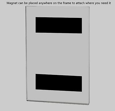 """Magnetic Ad Frame Sign Holder 4""""W x 6""""H Wall Mount with No Holes 7"""