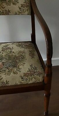 Antique Regency Mahogany Carver Chair With Downswept Arms And Lift Off Seat 5
