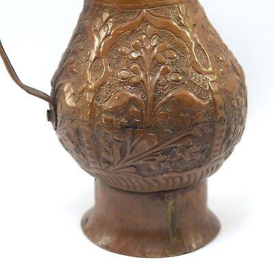 Vintage Beautiful Shape Indian Handcrafted Copper Water/Milk Jug/Vessel.G3-88 US 7