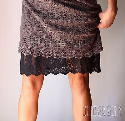2b15135c9d ... modest 1 of 9 Lace Full Slip Dress Skirt Extender, *Style 1* 5 Colors,  S-