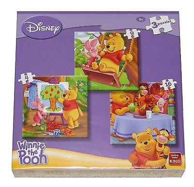 Disney Planes Cars Princess Winnie the pooh 3 Childrens jigsaw puzzles box set