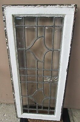 Heavy Duty Smaller Size Antique Arts & Crafts All Beveled Glass Window # 588 3