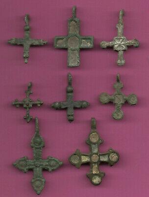 Lote de 8 Rusia Bronce Ortodox Cross ca 1050 11-12th Viking Bizantino 671 2