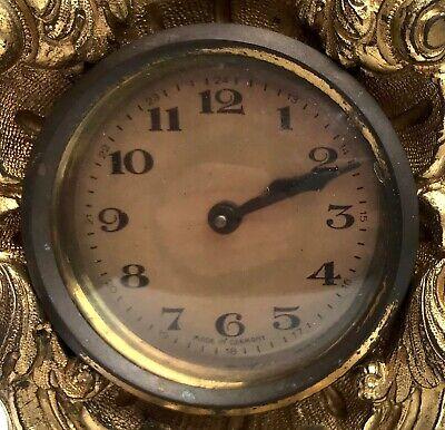 Lovely Antique German Ormolu Strut / Easel Mantel Clock 10