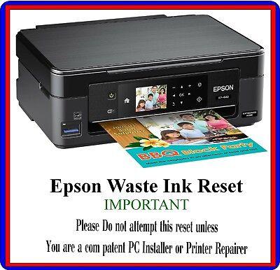EPSON RESET Waste Ink Reset Error Fault Most Epsons Work Dvd