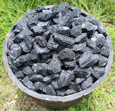 Black Tourmaline Rough Natural Stones: 1 lb Bulk Wholesale Chakra Raw (16 oz) 5