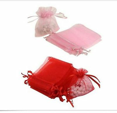50/100 Organza Wedding Xmas Party Favor Gift Candy Bags Jewellery Packing Pouch 4