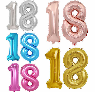 """32"""" 40"""" Giant Foil Number Balloons letter Air Helium Birthday Age Party Wedding 10"""