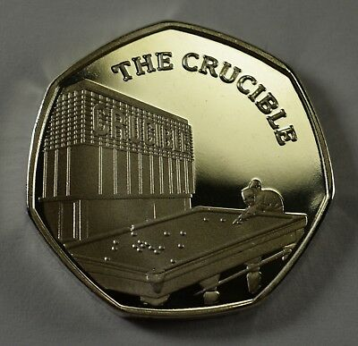 Pair of THE CRUCIBLE Commemoratives. 24ct Gold. Silver. Albums/Filler 2019 6