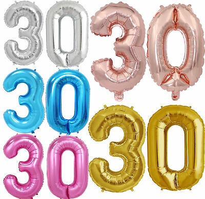 """32"""" 40"""" Giant Foil Number Balloons letter Air Helium Birthday Age Party Wedding 7"""