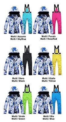 Completo Neve Tuta Sci Donna Giubbotto Set 2 pz Windproof Ski Suit Set CMSW10 P 6