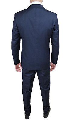 9877fe179b ABITO COMPLETO UOMO Diamond Sartoriale Blu Scuro Doppiopetto Vestito  Elegante