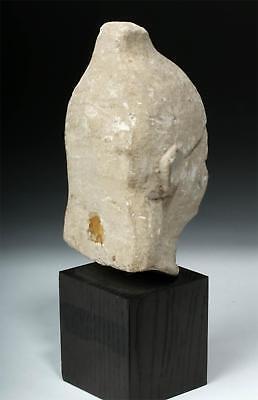 Greek Cypriot Limestone Head - Male Votary Lot 15A