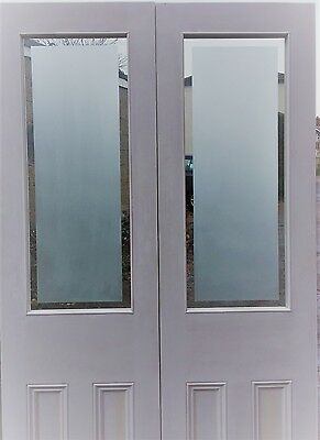 Internal French Door Etched Glass Painted White 2