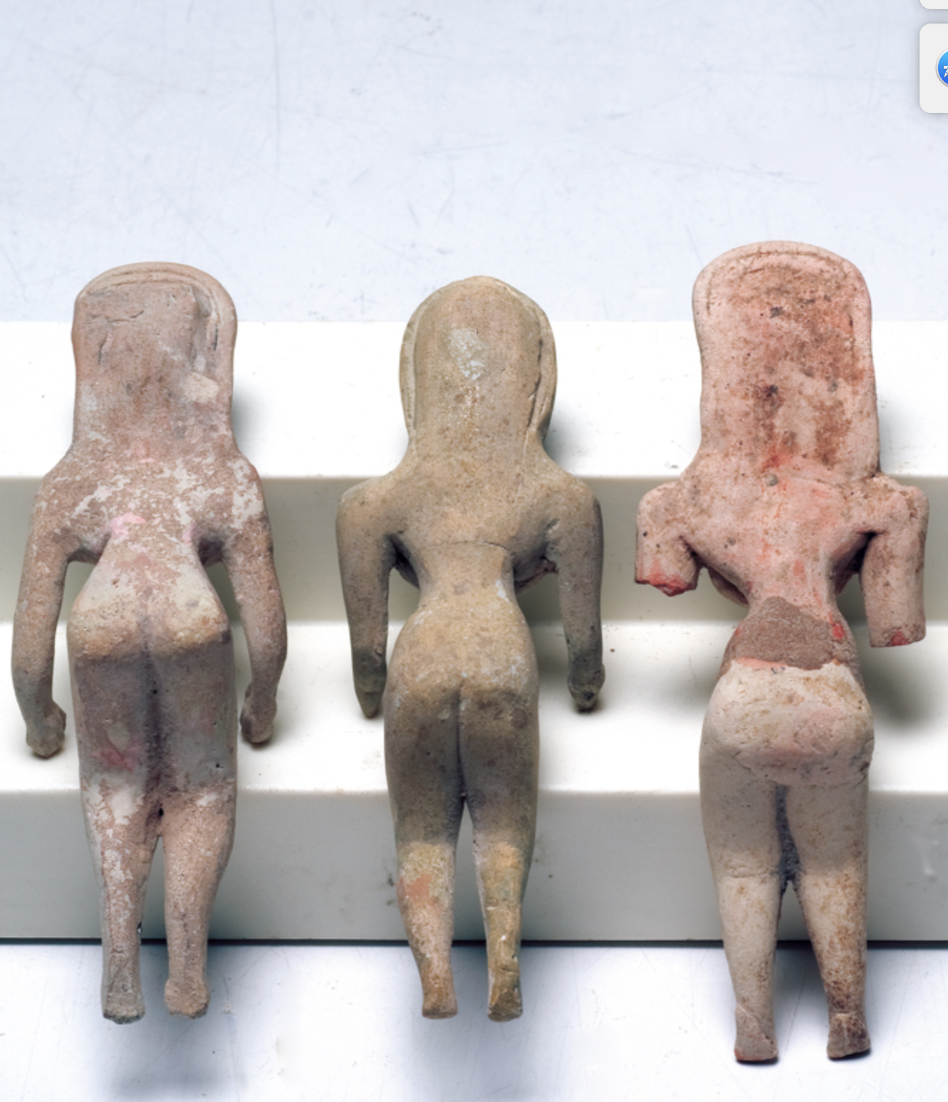 Three Indus Valley Fertility Idols Ca. 1800 B.C. Central Asia Early Goddess 2