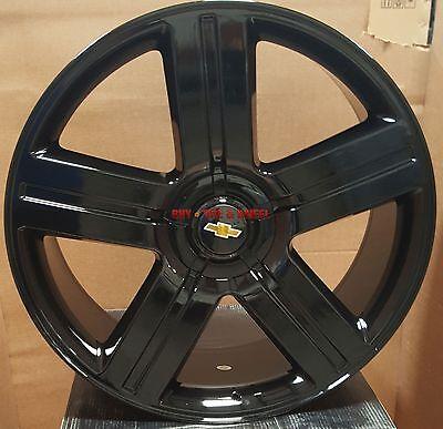 26 Wheels Tires Texas Edition Style Gloss Black Rims Chevy Silverado Tahoe Ltz 3