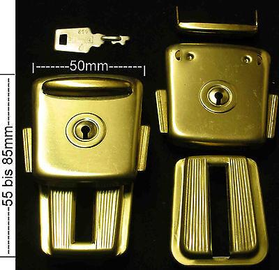 1 Paar PREMIUM Verschluss NEU Taschenverschluss Verstellbares Schloss Farbe Gold