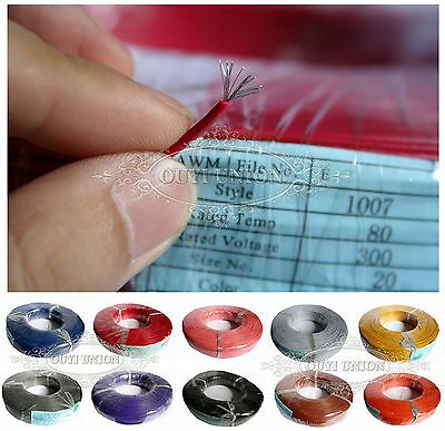 5M Equipment Wire 22AWG Multi Copper Core Hook UP Stranded  DIY Electrical Wire 4