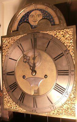 "Antique  Mahogany  "" London "" Brass Moon  Dial   Longcase / Grandfather Clock 4"