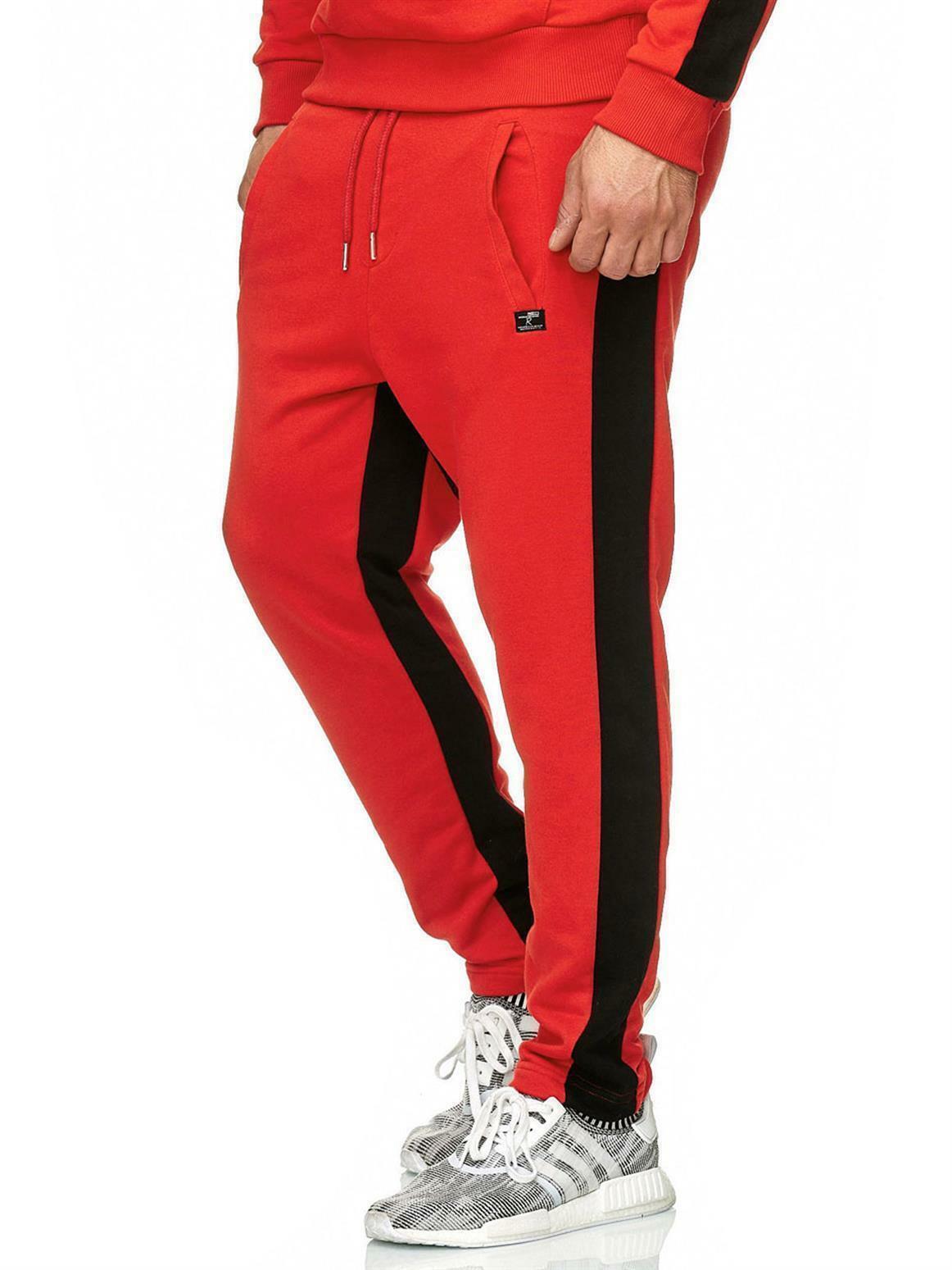 Hommes Coton Pantalon De Survêtement Pantalon De Jogging Pantalons Gym Fitness Sports Pantalon