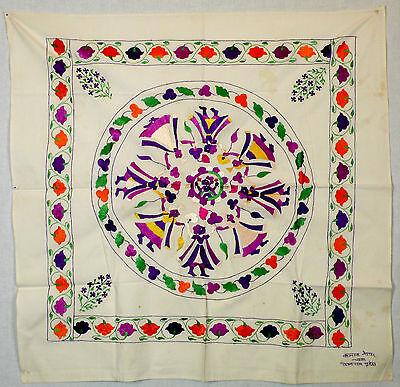 Coverlet, folk silk embroidery, rumal, Chamba Valley, India 5