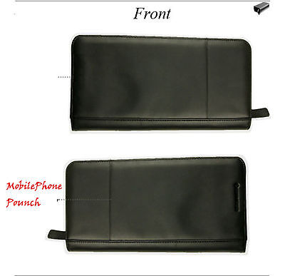 Black Faux Leather Passport Iphone Holder Zipper Quality Business Travel Wallet 5