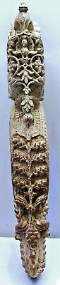 Bracket Wooden Carved Corbel Indian Vintage Mughal Art Architectural Collectible 2