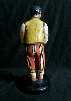 """Vintage hand made chalkware figurines in national costumes 10.5"""" S.America Euro 7"""