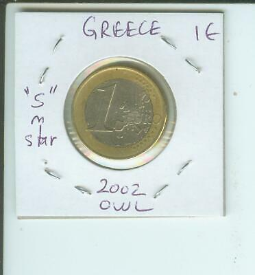 """1 euro Owl Coin which has the """"S"""" in one of the stars"""