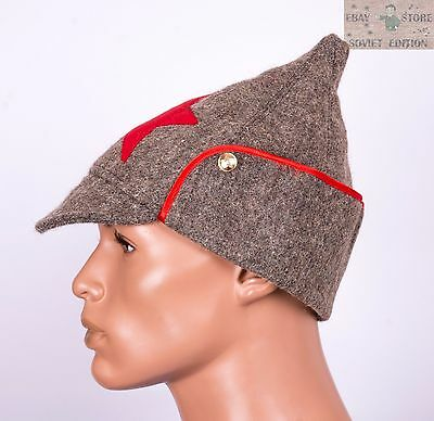 9df4dff65f8 ... Russian Soviet budenovka winter wool hat size 58-60 USSR Red Army  uniform 4