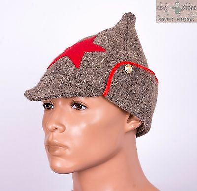 a23df41bf09 ... Russian Soviet budenovka winter wool hat size 58-60 USSR Red Army  uniform 3