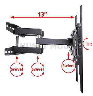 Full Motion TV Wall Mount  VESA Bracket 32 46 50 55 60 inch LED LCD Flat Screen 3