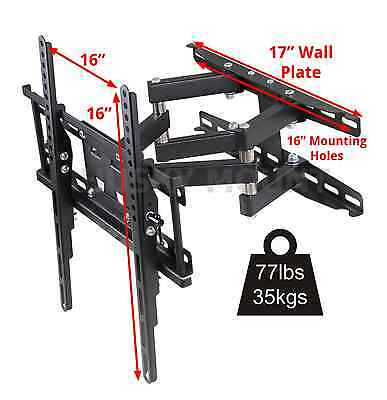 Full Motion TV Wall Mount  VESA Bracket 32 46 50 55 60 inch LED LCD Flat Screen 2