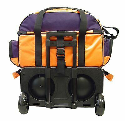 8c6b94be4c ... KAZE SPORTS 4 Ball Double Decker Bowling Bag Roller Tote with Smooth PU  Wheels 4