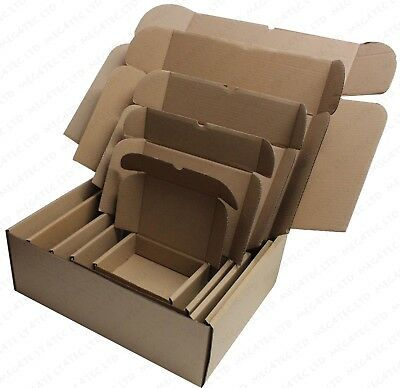 White Or Brown Shipping Cardboard Boxes Postal Mailing Gift Packet Small Parcel 8