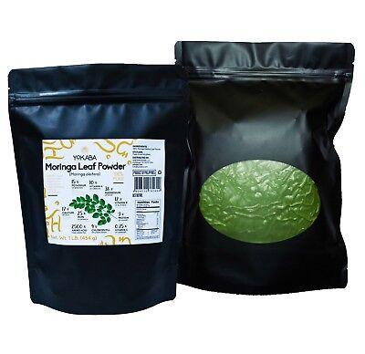 Moringa Oleifera Leaf Powder 1 lb ( 16oz ) - Organic, Natural 100% Pure , YOKABA 7