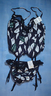 Vintage Valentino 2701 Bustier with Sheer Trim Size 34B in a Calla Lily Print 12