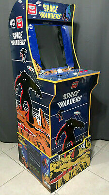 Arcade1up Cabinet Riser Graphics - Space Invaders Graphic Sticker Decal Set 4