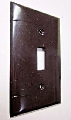 Sierra Switch Plate Wall Cover Brown Bakelite 2 Ribbed Lines Smooth P-1 Vintage 5