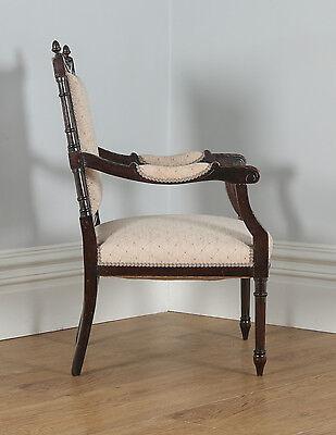 Antique French Louis XVI Style Walnut Salon Occasional Armchair (Circa 1880) 9