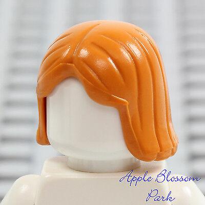 ☀️NEW Lego Minifig Hair Male Boy Earth Orange Short Bowl Cut Head Gear