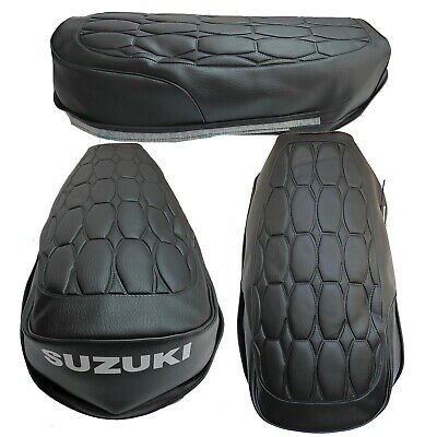 SUZUKI GT185 L//M//A//B 1974 1975 1976 1977 SEAT COVER WITH STRAP S21--n12