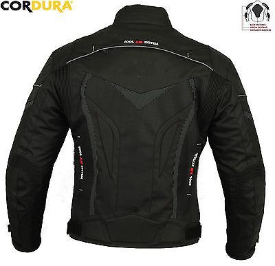 Black Hawk Mens Winter Ce Motorbike / Motorcycle Textile Jacket Trousers Suit 3