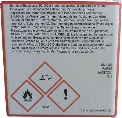 (189,00€/L) 10ml Glühlampen Tauchlack Rot roter Lampenlack direkt ab Großlager