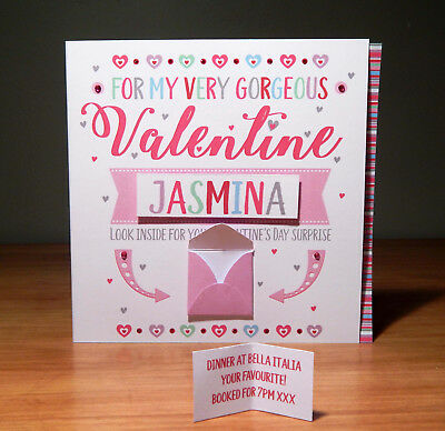 Special Valentine's Day surprise reveal card Personalised Valentine cards 12