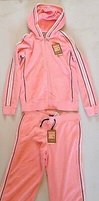 Girls Juicy Couture Towelling Varsity Crop Tracksuit Age 14 Rrp£175 Now£40.50 2