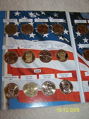 Presidential Dollar Coin Book 2007-2016 Complete Full 5