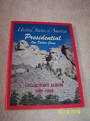 Presidential Dollar Coin Book 2007-2016 Complete Full 3