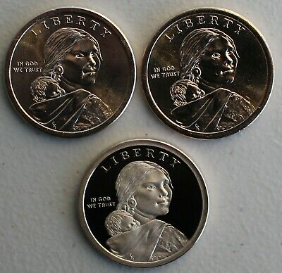 2019 PDS Sacagawea Dollar Native American Indians In the Space Program 3 Coin $1 2