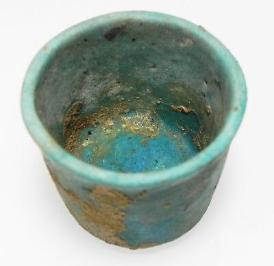 Zurqieh -As9982- Ancient Egypt. Faience Cup . Late Period. 600 - 300 B.c 4